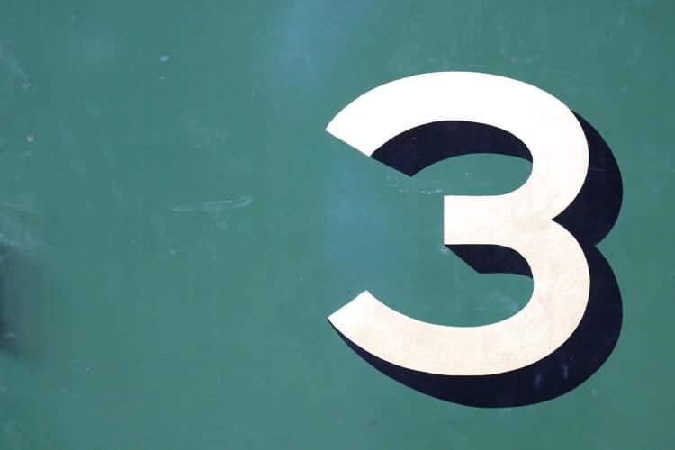 3を表す画像